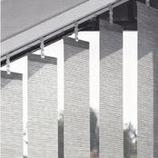 Luxaflex Vertical Transparent Grey & Black - 89mm